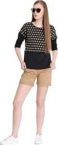 United Colors of Benetton Casual Full Sleeve Polka Print Women's Multicolor Top