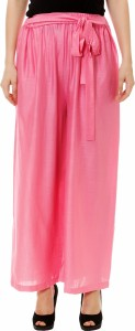 Kannan Flared Women's Pink Trousers