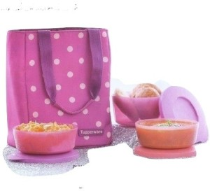 Tupperware Polka Lunch Set 3 Containers Lunch Box