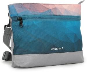 a24f1503b6 Fastrack Women Blue Grey Pink PU Sling Bag