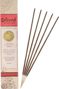 Omved SAMBRANI Ayurvedic Agarbattis Natural Aroma Incense Sticks12 Sticks  per Box