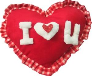 Aparshi (PACK OF 4) Smarty heart stuffed cushion soft toy 4DDd22  - 32 cm