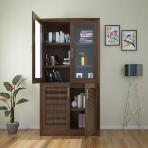 HomeTown Stark Engineered Wood Close Book Shelf