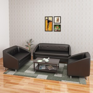 Hometown Belfast Leatherette 3 2 1 Black Sofa Set Best Price In
