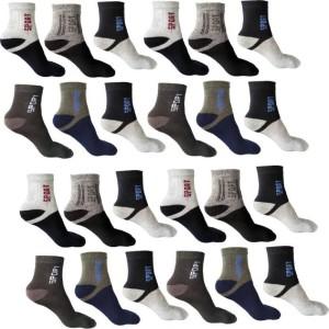 om trading Men & Women Solid Ankle Length Socks