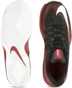 db26a1fe2d83 Nike AIR MAX INFURIATE LOW Basketball Shoes Black Maroon Best Price ...