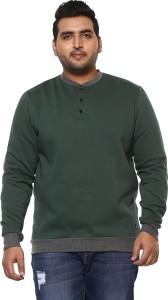 John Pride Full Sleeve Solid Men Sweatshirt
