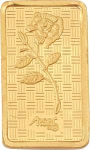 rsbl Precious Certified Dazzling Rose Design 24 (999) K 0.5 g Yellow Gold Bar 24 (999) K 0.05 g Gold Bar