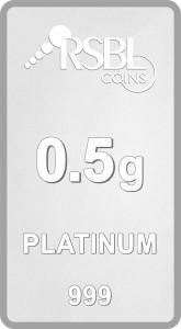 RSBL Precious Certified Beautiful Design 24 (999) K 0.5 g Platinum Bar