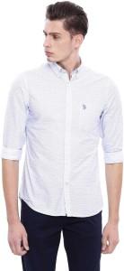 U.S. Polo Assn. Men Printed Casual White Shirt