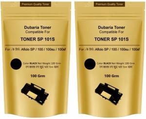 Dubaria Toner Powder Pouch Compatible For Use In Ricoh SP100 / SP111 / SP111SU / SP200 / SP210 / SP212SNw / SP300 / SP 300DN / SP310DN / SP 325Sfnw /SP3400 / SP3410 / SP3510 / Aficio 3510DN Printers – 100 Grams (Set of 2) Single Color Toner