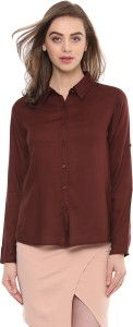 Mayra Women's Solid Casual Red Shirt