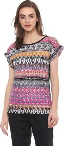 Mayra Casual Cape Sleeve Printed Women Multicolor Top
