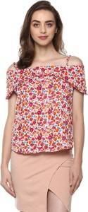Mayra Casual Half Sleeve Floral Print Women Multicolor Top