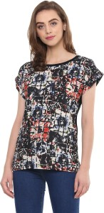 Mayra Casual Cape Sleeve Floral Print Women Multicolor Top