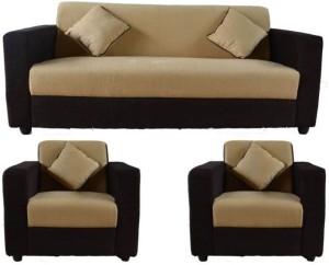 Westido Citrus Fabric 3 1 1 Cream Brown Sofa Set Best Price In India