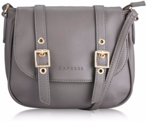 b591ea051 Caprese Women Grey Leatherette Sling Bag Best Price in India ...