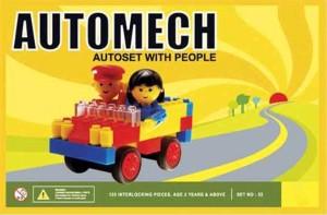 Bonkerz Developing Automech Blocks Set For Kids