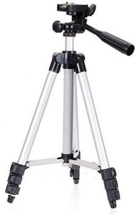 Mezire Tripod Stand for Beginners Video camera & mobile Tripod (Silver, Supports Up to 1000 g) Tripod
