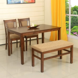 eaa842e0166 home by Nilkamal Jewel Solid Wood 4 Seater Dining Set Finish Color ...