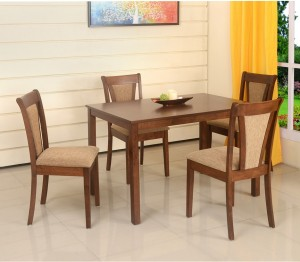 33196e67904 home by Nilkamal Jewel Solid Wood 4 Seater Dining Set ( Finish Color -  Walnut )