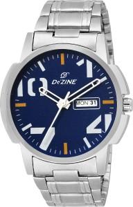 Dezine DAY DATE DISPLAY-GR1196-BLU Watch  - For Men