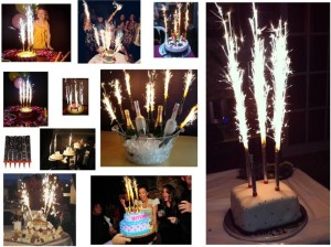 Pari Collection BIRTHDAY CAKE SPARKLERS CANDLE 6pcs CandleBlack Pack Of 1