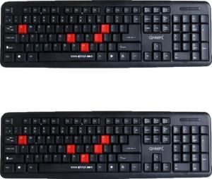 Quantum QHM7403 2 Combo Keyboard (COMBO) Wired USB Multi-device Keyboard