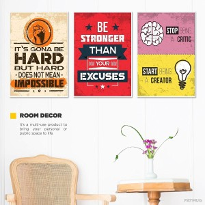 Motivational Posters For Office And Study Room Set Of 3 13x19 In Inspirational Wall Quotes Q6 19 Inch X 13 Best Price India