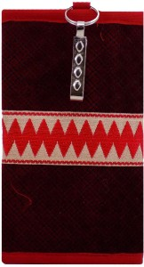 c2c5d6471f Bagaholics Ethnic Raw Silk Saree Clutch Mobile Pouch Waist Clip Ladies Purse  Gift Mobile Pouch ( Maroon )