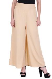 CREPE Flared Women's Beige Trousers