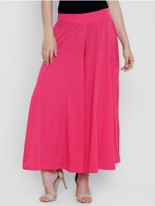 CREPE Flared Women's Pink Trousers