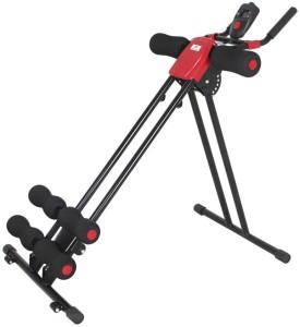 Telebrands Power Plank Abdominal Trainer Ab Coaster Round Waist Trainer (Black, Red) Ab Exerciser
