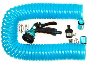 Pepper Agro Car Wash Garden Tools Water Hose 50-feet Coil Hose Set (Blue) Car Wash Garden Tools Water Hose 50-feet Coil Hose Set (Blue) Hose Pipe