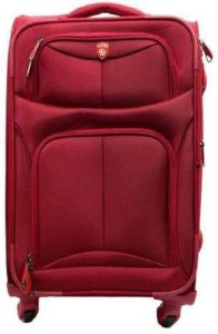 Swiss Era SwissEra Strolley Bag (RED) ab-1 Luggage Expandable  Check-in Luggage - 24 inch