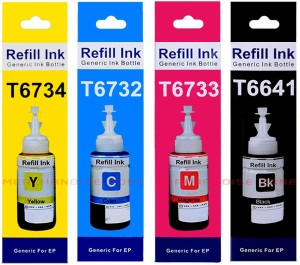 Epson Epson Printer Ink / Epson Compatible Refill Ink / Epson Ink Bottle /  Epson Refill Ink - L100, L110, L130, L200, L210, L220, L300, L310, L350,
