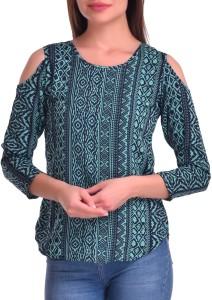 Stop Look Casual 3/4th Sleeve Printed Women's Multicolor Top