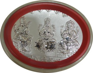Kataria Jewellers Lakshmi Ganesh Saraswati S 999 10 g Silver Coin