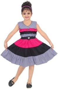 Singham Girls Midi/Knee Length Casual Dress