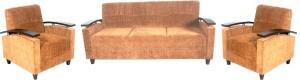 Amey 366 Fabric 3 + 1 + 1 Brown Sofa Set