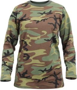 9fecd8db Melcom Military Camouflage Women s Round Neck Light Green T Shirt ...