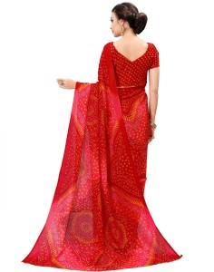 628dbc46dd4b9 Sariya Woven Bandhani Printed Silk Saree Red Best Price in India ...