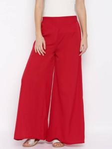 DARZI Flared Women's Red Trousers