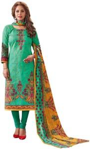 Jevi Prints Cotton Floral Print Salwar Suit Dupatta Material