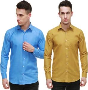 Nimegh Men's Solid Casual Club Shirt