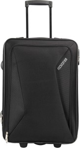 American Tourister AMT COLUMBIA UR 55CM BLACK Expandable  Cabin Luggage - 20 Inches