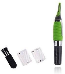 MaxelNova Micro Touch Personal Ear Nose Neck Eyebrow Hair Trimmer Remover - Green Cordless Trimmer