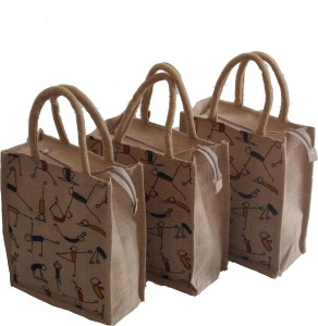 TackRus Natural Jute bag Lunch Bag