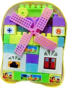 Bonkerz Kids Plastic Building Blocks Bag Gift Toy