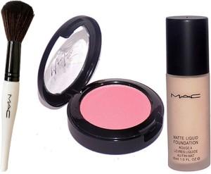 M.A.C Makeup Brush,Fard A Joues Blusher&Liquid Matte Foundation